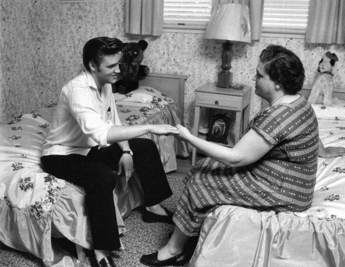 Elvis and his Mother- Retro Mothers Day