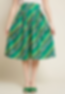 50's Style Green Striped Skirt.png