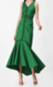 50s Mermaid Tail Dress in Green
