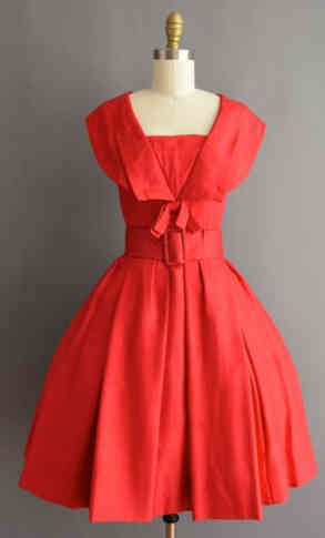 True Vintage 50s Flaired Dress