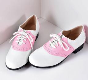 Retro Pink Saddle Shoes