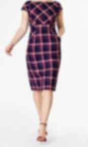 50s Plaid Shift Dress