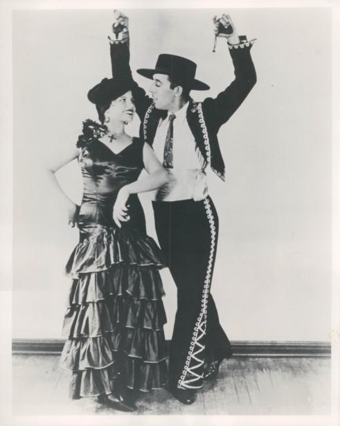 Rita Hayworth and Father Vaudeville Dancing