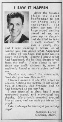 I saw it happen: Frank Sinatra