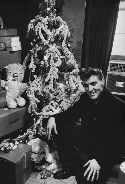White Christmas Tree and Elvis