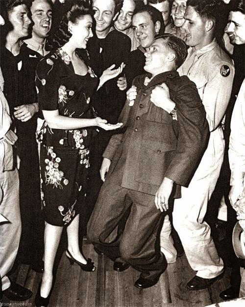 Linda Darnell dancing at Hollywood Canteen