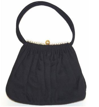 50s Black Handbag