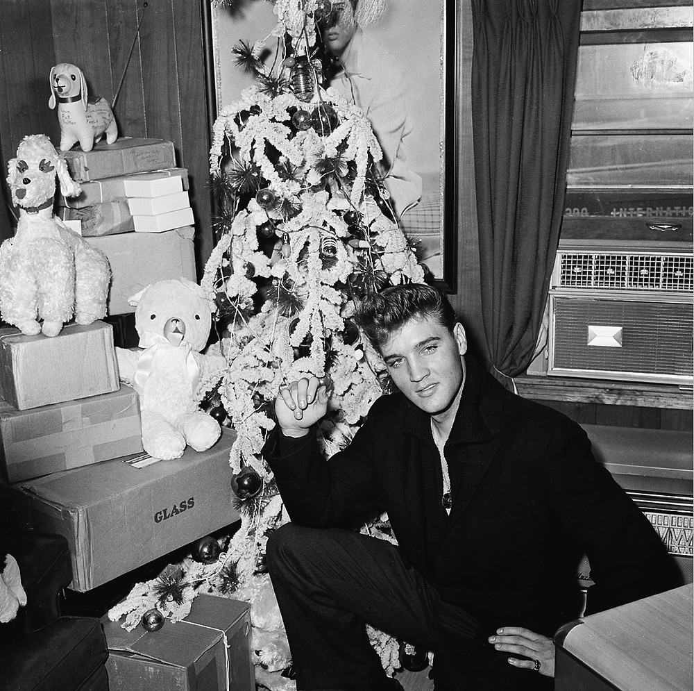 Elvis at home for Christmas