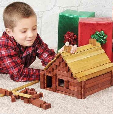 Retro Log Cabin Building Set
