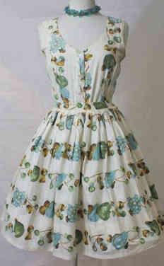 True Vintage Novelty Print Dress