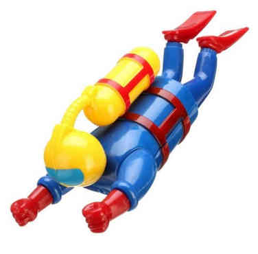 Retro Scuba Diving Bath Toy