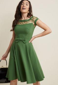 Green Retro Style Dress