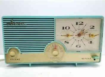 True Mid Cenury Aqua Clock