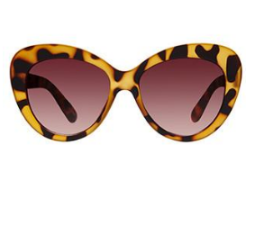 Mink Pink Curvy Tort Print Sunglasses