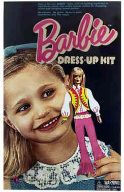 Retro Barbie Colorforms Game