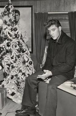 Elvis White Christmas Tree