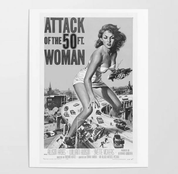 50 Foot Woman Poster