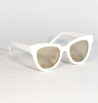 50s Style White Cat Eye Sunglasses