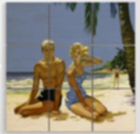 1950s Beach Culture Wood Print.jpg