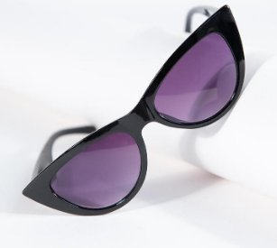 Retro Black Cat Eye Sunglasses