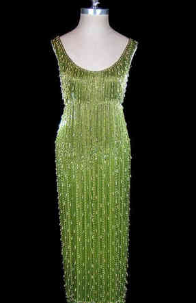 1950s Samuel Winston Beaded Gown