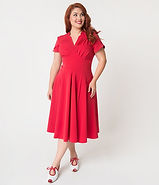 Red Empire Waist Dress.jpg