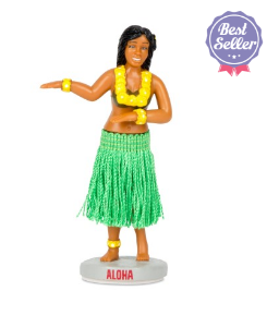 Retro 50s Style Hula Girl Dashboard Figure