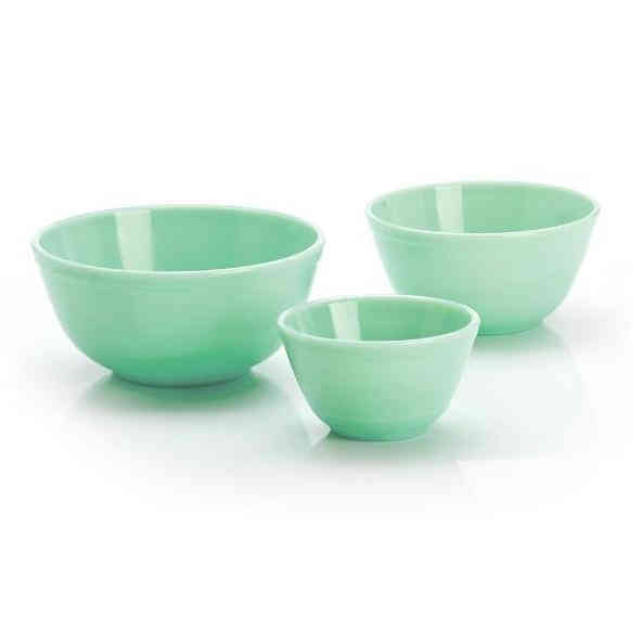 Old Fashioned Jadeite Mixing Bowls