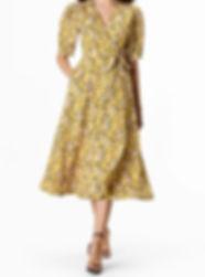 40s Yellow Wrap Day Dress