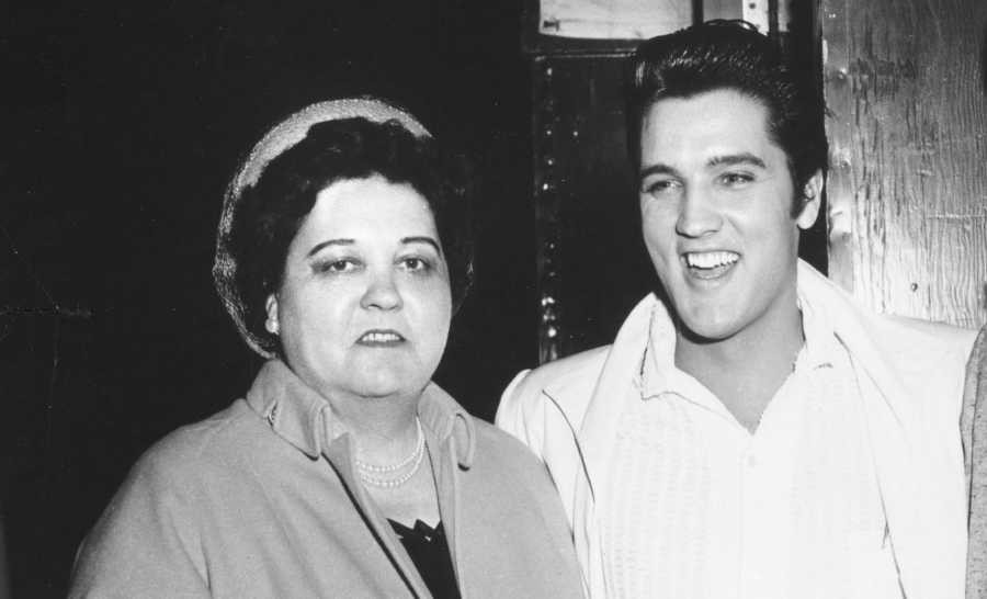 Retro Mother's Day. Elvis and Mother