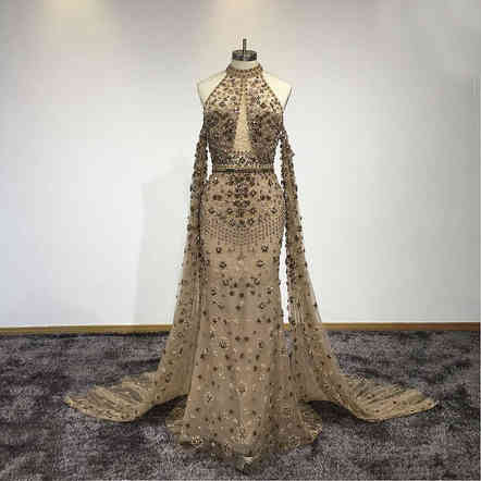 Luxury Vintage Beaded Gown