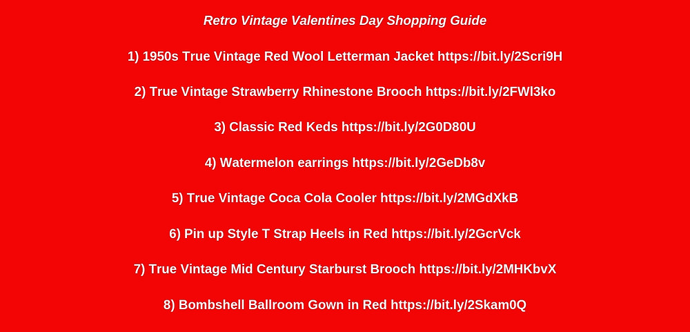 Retro Vintage Valentines Day Shopping Guide