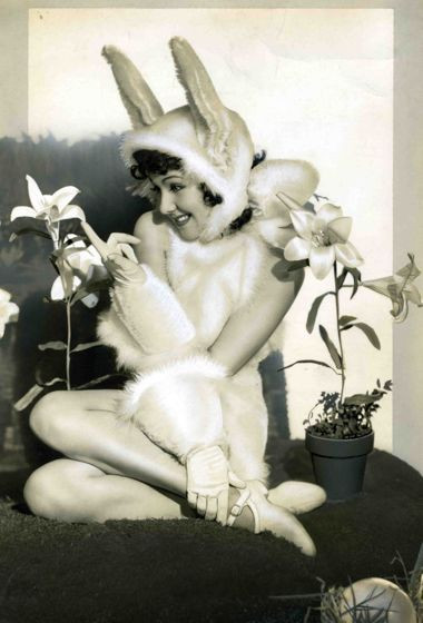 Jean Parker as Easter Bunny Image from Pinterest