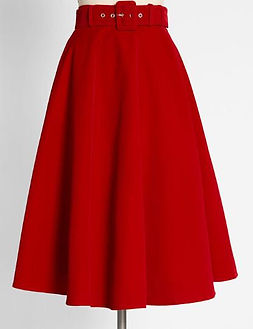 50s retro high waist full skirt