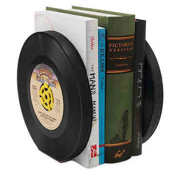 Vinyl Record Book Ends