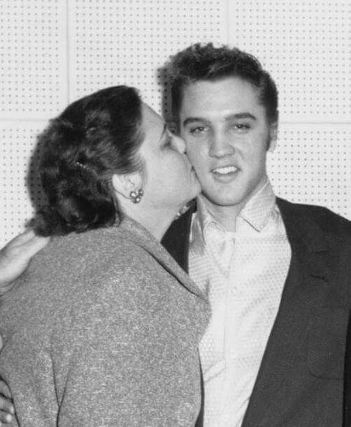 Retro Mothers Day- Elvis and Mom Gladys