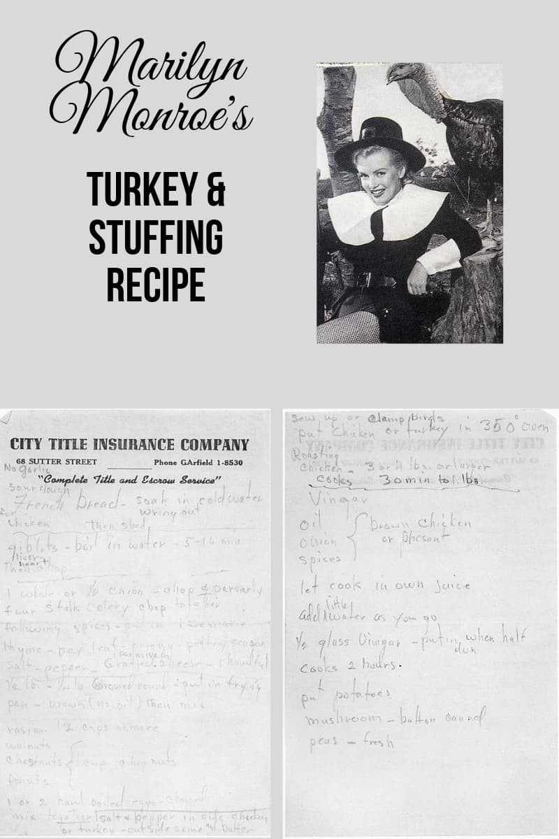 Marilyn Monroes Thanksgiving Dinner Recipe