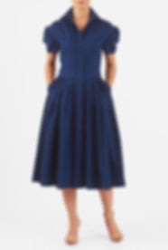 50s Housewife Shirtdress in Blue