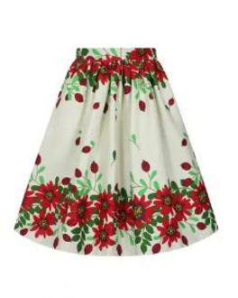 floral swng skirt