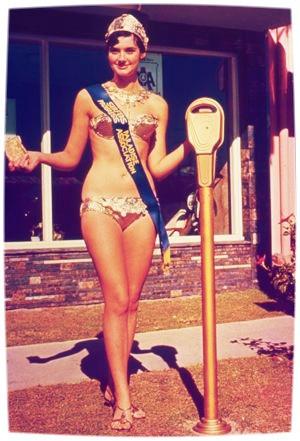 60s retro print meter maid gold coast
