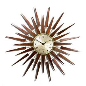 Retro Starburst Pluto Clock
