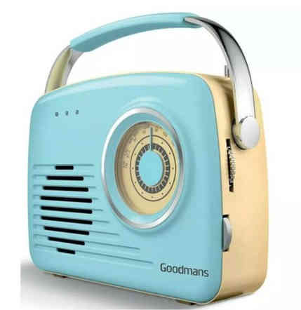 Aqua Blue Retro Radio