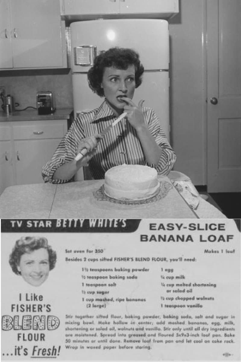 Betty White Banana Bread Recipe