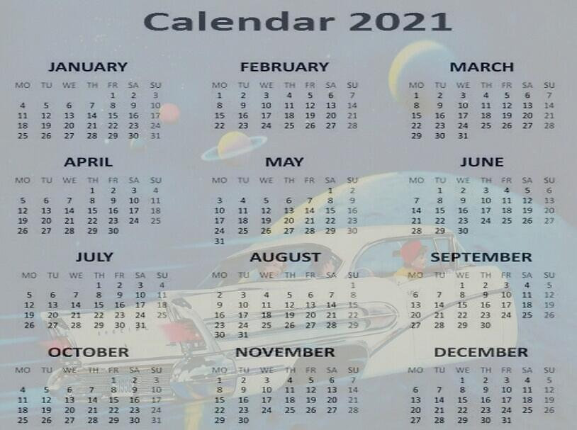Free Retro Calendar 2