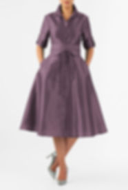 50s Housewife Dress in Violet
