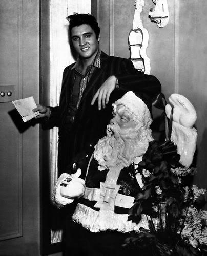 Elvis with Santa
