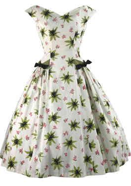50s Atomic Floral Dress