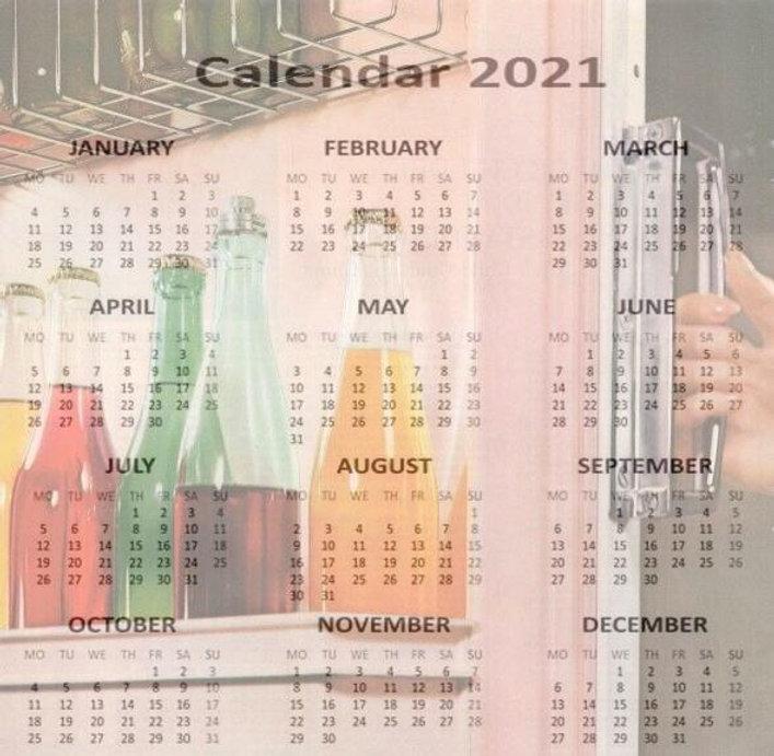 Free Retro Calendar 2021