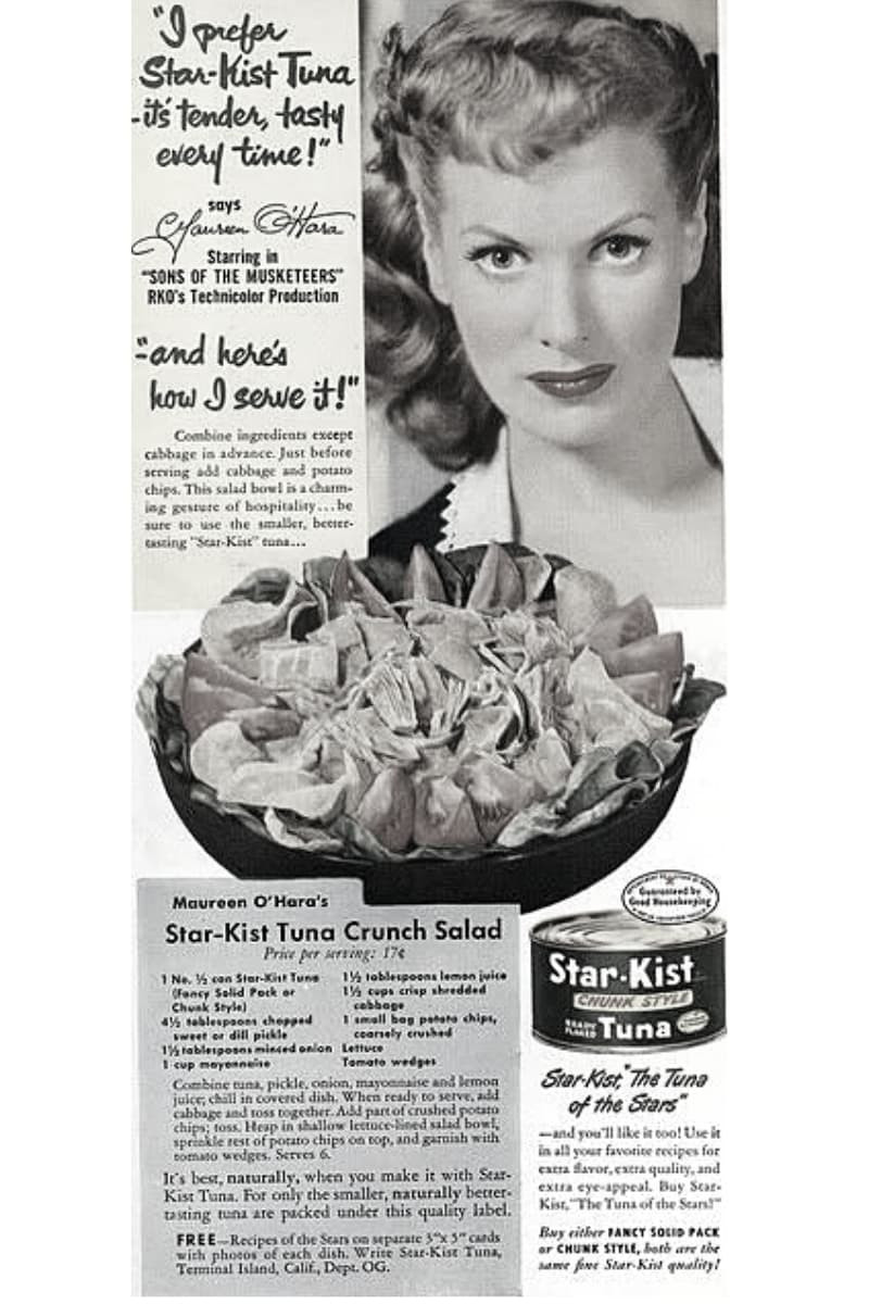 Maureen O'Hara Crunch Tuna Salad Recipe