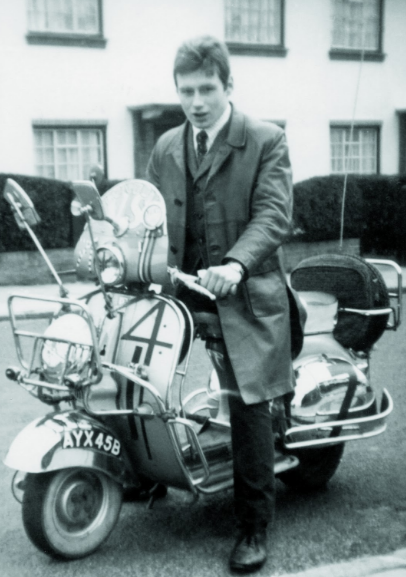60s Mod Suit and scooter